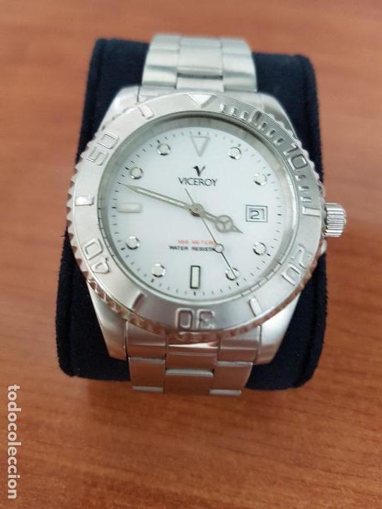 Relojes - Viceroy: Reloj caballero VICEROY de cuarzo con correa de acero original, esfera blanca, bisel giratorio - Foto 11 - 138607466