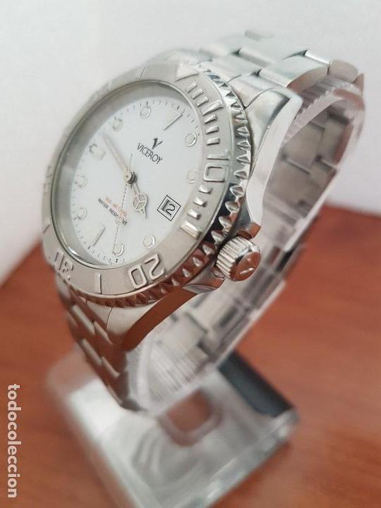 Relojes - Viceroy: Reloj caballero VICEROY de cuarzo con correa de acero original, esfera blanca, bisel giratorio - Foto 14 - 138607466