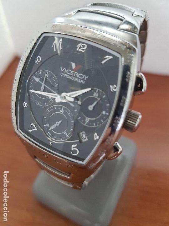 Relojes - Viceroy: Reloj caballero acero VICEROY cronografo cuarzo con calendario a las cuatro, correa acero original - Foto 2 - 138757082