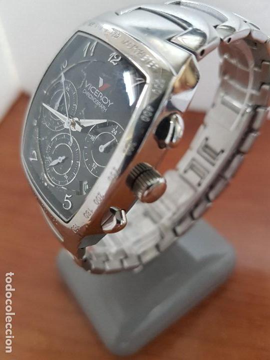 Relojes - Viceroy: Reloj caballero acero VICEROY cronografo cuarzo con calendario a las cuatro, correa acero original - Foto 3 - 138757082