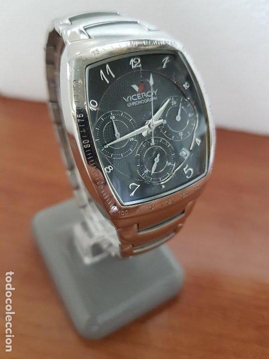 Relojes - Viceroy: Reloj caballero acero VICEROY cronografo cuarzo con calendario a las cuatro, correa acero original - Foto 5 - 138757082