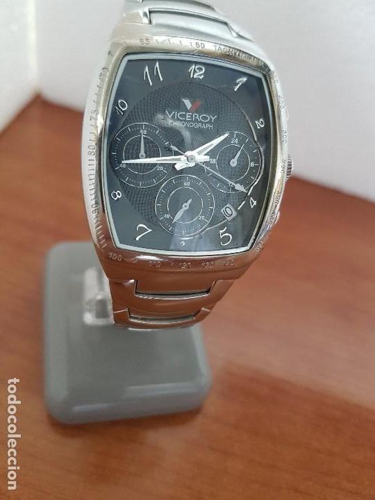 Relojes - Viceroy: Reloj caballero acero VICEROY cronografo cuarzo con calendario a las cuatro, correa acero original - Foto 8 - 138757082
