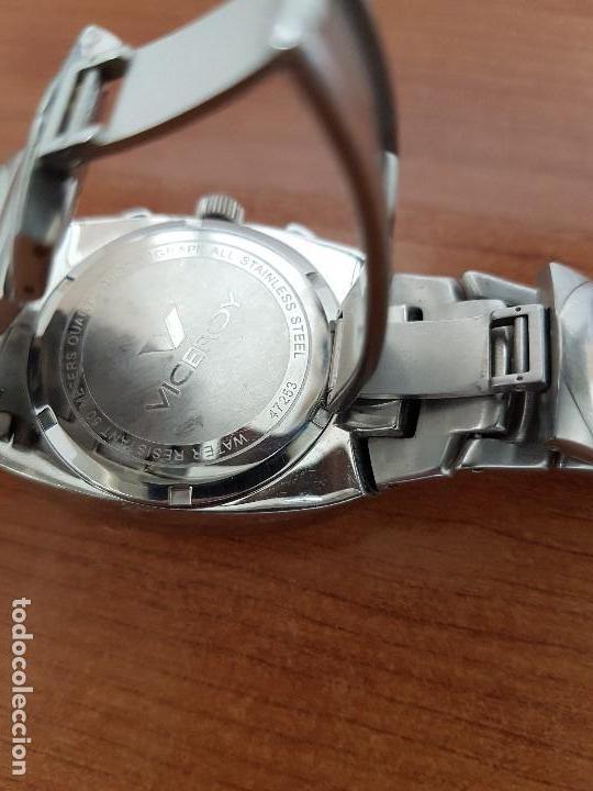 Relojes - Viceroy: Reloj caballero acero VICEROY cronografo cuarzo con calendario a las cuatro, correa acero original - Foto 10 - 138757082
