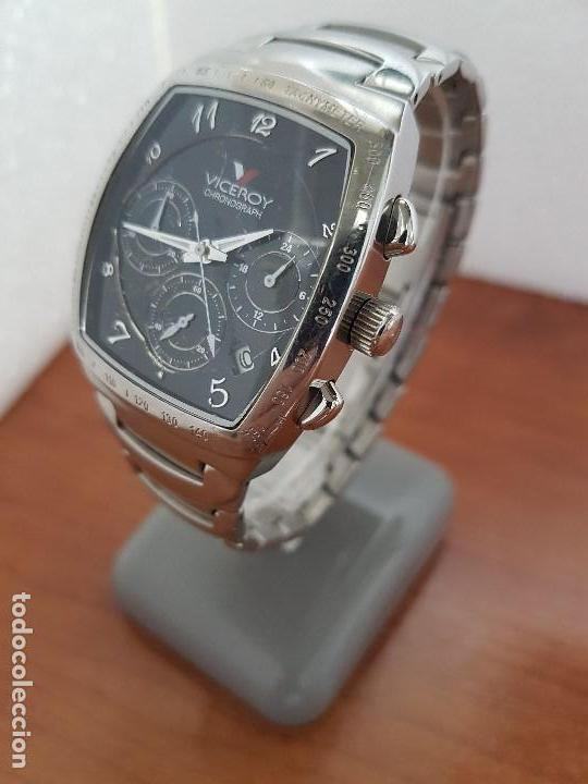 Relojes - Viceroy: Reloj caballero acero VICEROY cronografo cuarzo con calendario a las cuatro, correa acero original - Foto 12 - 138757082