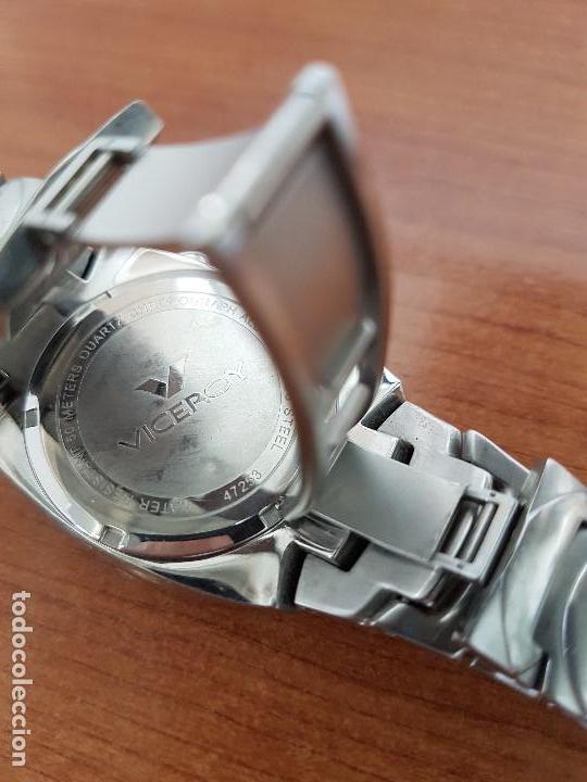 Relojes - Viceroy: Reloj caballero acero VICEROY cronografo cuarzo con calendario a las cuatro, correa acero original - Foto 14 - 138757082
