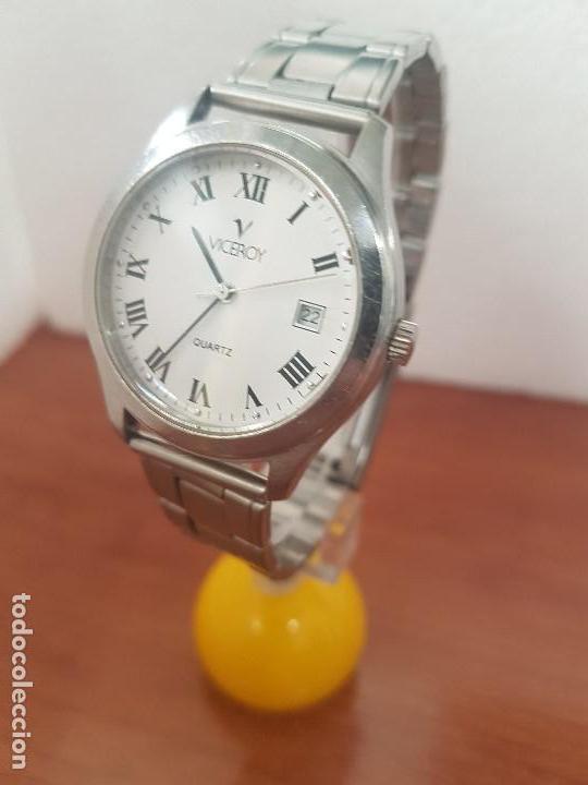 Relojes - Viceroy: Reloj caballero cuarzo Viceroy de acero con calendario a las tres horas, correa acero, cristal bueno - Foto 2 - 143742438