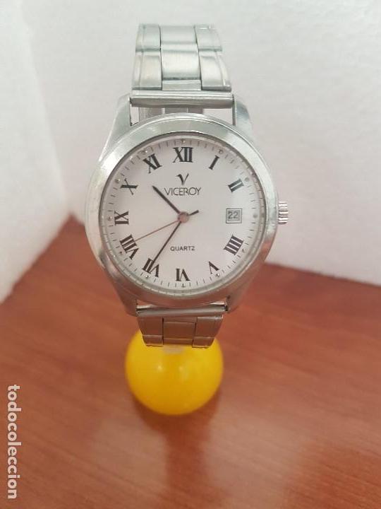 Relojes - Viceroy: Reloj caballero cuarzo Viceroy de acero con calendario a las tres horas, correa acero, cristal bueno - Foto 8 - 143742438
