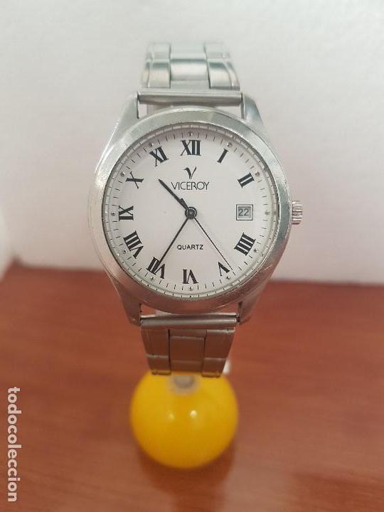 Relojes - Viceroy: Reloj caballero cuarzo Viceroy de acero con calendario a las tres horas, correa acero, cristal bueno - Foto 11 - 143742438