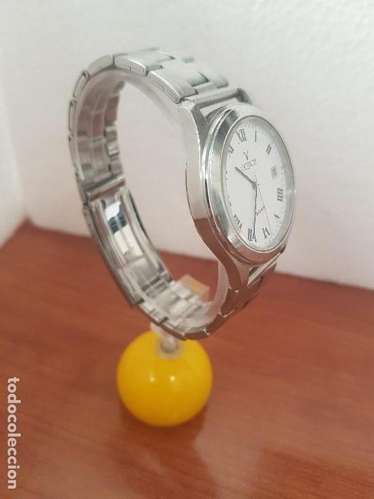 Relojes - Viceroy: Reloj caballero cuarzo Viceroy de acero con calendario a las tres horas, correa acero, cristal bueno - Foto 12 - 143742438