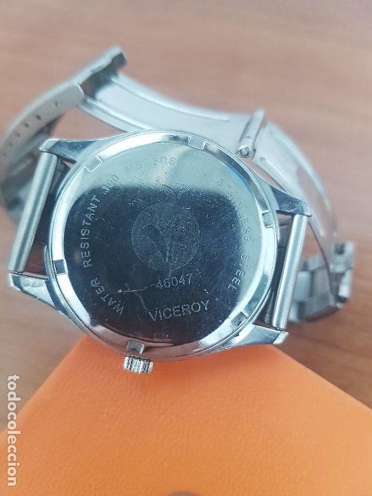 Relojes - Viceroy: Reloj caballero cuarzo Viceroy de acero con calendario a las tres horas, correa acero, cristal bueno - Foto 13 - 143742438
