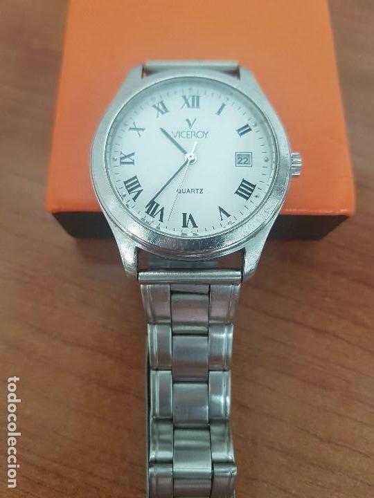 Relojes - Viceroy: Reloj caballero cuarzo Viceroy de acero con calendario a las tres horas, correa acero, cristal bueno - Foto 16 - 143742438