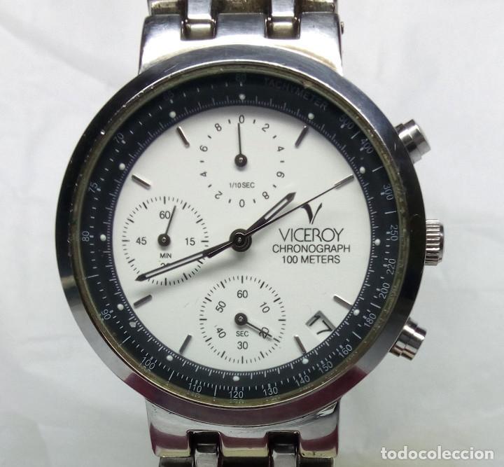 RELOJ VICEROY CRONÓGRAFO, CON SU ESTUCHE - CAJA 35 MM - FUNCIONA (REVISAR CRONÓGRAFO) (Relojes - Relojes Actuales - Viceroy)