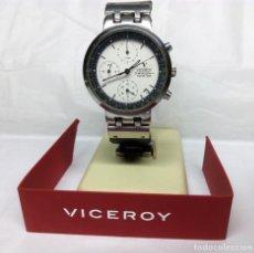 Relojes - Viceroy: RELOJ VICEROY CRONÓGRAFO, CON SU ESTUCHE - CAJA 35 MM - FUNCIONA (REVISAR CRONÓGRAFO). Lote 147851290