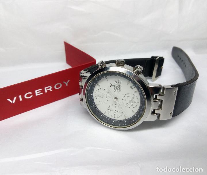 Relojes - Viceroy: RELOJ VICEROY CRONÓGRAFO, CON SU ESTUCHE - CAJA 35 mm - FUNCIONA (REVISAR CRONÓGRAFO) - Foto 5 - 147851290