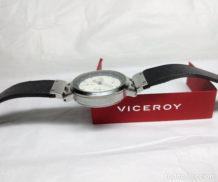 Relojes - Viceroy: RELOJ VICEROY CRONÓGRAFO, CON SU ESTUCHE - CAJA 35 mm - FUNCIONA (REVISAR CRONÓGRAFO) - Foto 6 - 147851290