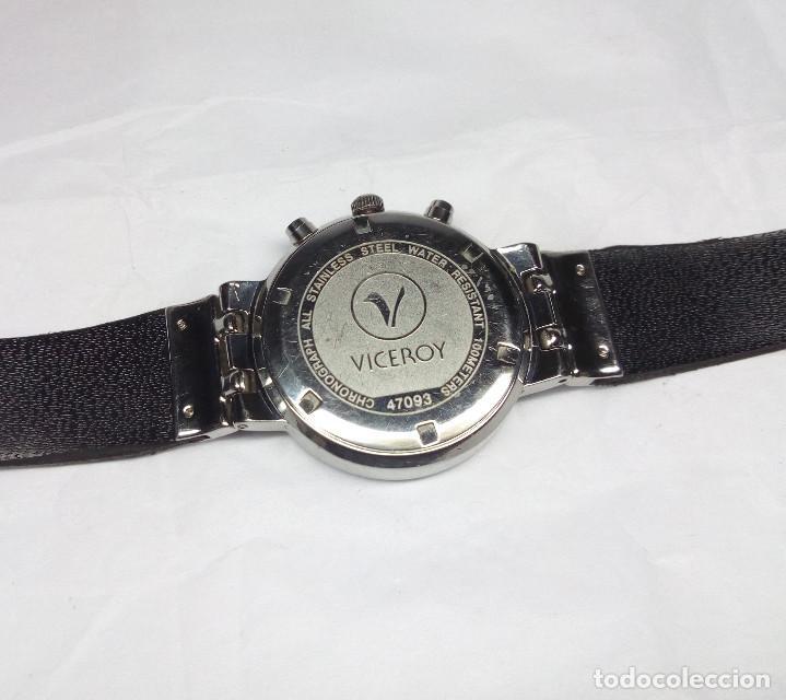 Relojes - Viceroy: RELOJ VICEROY CRONÓGRAFO, CON SU ESTUCHE - CAJA 35 mm - FUNCIONA (REVISAR CRONÓGRAFO) - Foto 7 - 147851290