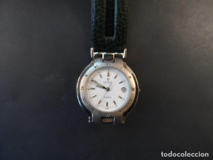 Relojes - Viceroy: RELOJ CUERO VERDE ACERO BRILLO Y MATE. VICEROY. WATER RESISTANT. CALENDARIO. QUARTZ. SIGLO XXI - Foto 2 - 158443398