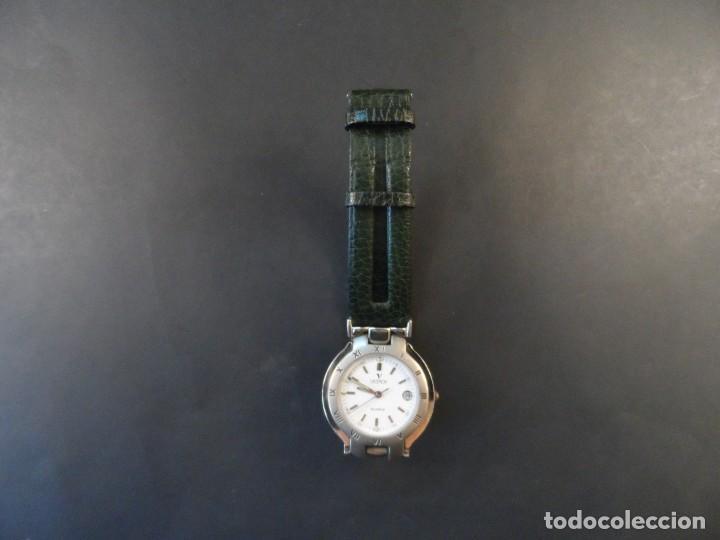 Relojes - Viceroy: RELOJ CUERO VERDE ACERO BRILLO Y MATE. VICEROY. WATER RESISTANT. CALENDARIO. QUARTZ. SIGLO XXI - Foto 3 - 158443398