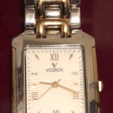 Relojes - Viceroy: RELOJ DE QUARTZ EN ACERO, Y ACERO CHAPADO EN ORO VICEROY. Lote 163110466