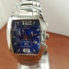 Relojes - Viceroy: RELOJ CABALLERO ACERO VICEROY CRONOGRAFO CUARZO CON CALENDARIO A LAS CUATRO, CORREA ACERO ORIGINAL. Lote 163470118