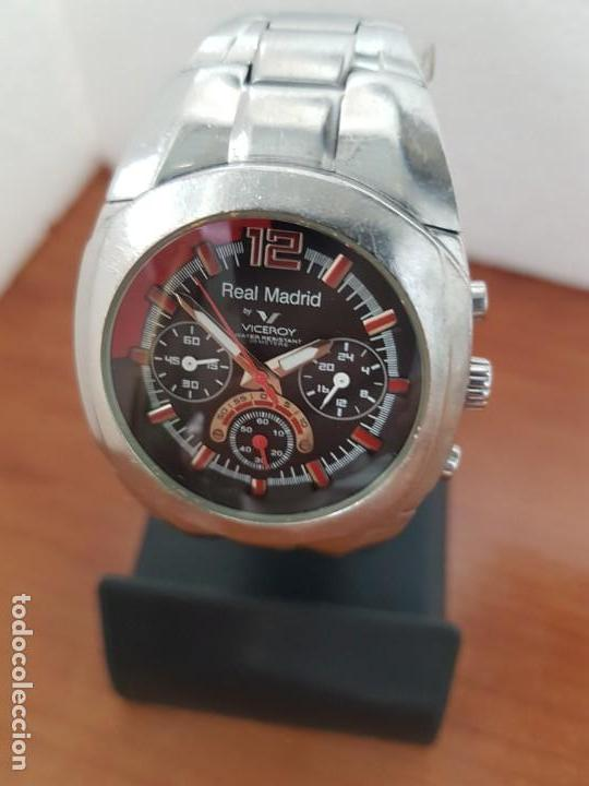 Relojes - Viceroy: Reloj caballero VICEROY (Real Madrid) cronografo,en acero, esfera negra con correa acero original - Foto 2 - 171098829