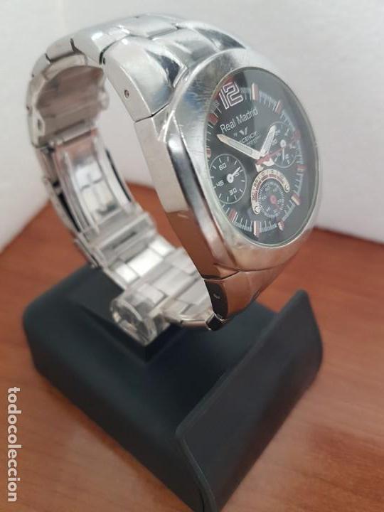 Relojes - Viceroy: Reloj caballero VICEROY (Real Madrid) cronografo,en acero, esfera negra con correa acero original - Foto 3 - 171098829
