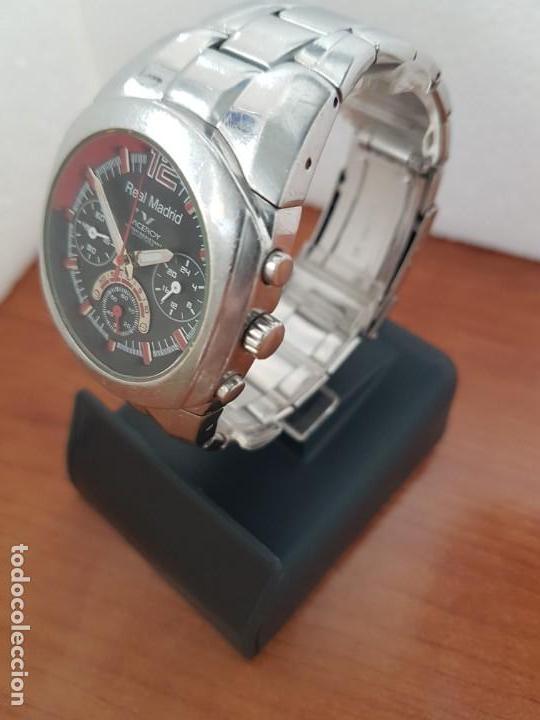 Relojes - Viceroy: Reloj caballero VICEROY (Real Madrid) cronografo,en acero, esfera negra con correa acero original - Foto 4 - 171098829