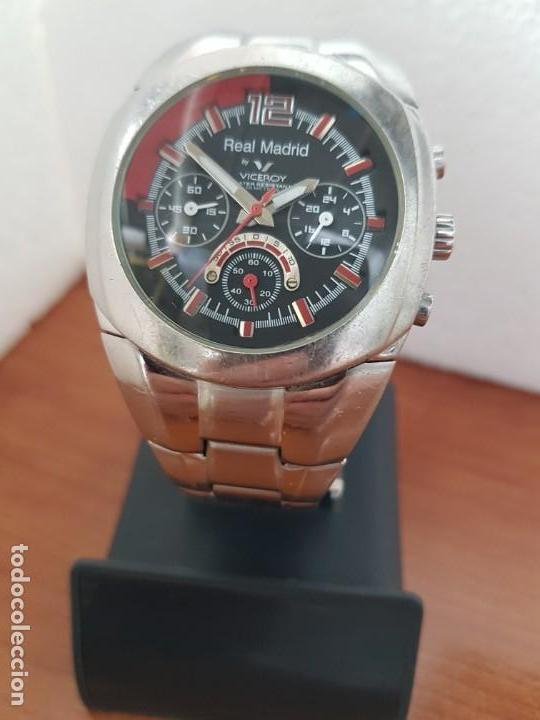 Relojes - Viceroy: Reloj caballero VICEROY (Real Madrid) cronografo,en acero, esfera negra con correa acero original - Foto 5 - 171098829