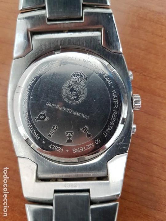 Relojes - Viceroy: Reloj caballero VICEROY (Real Madrid) cronografo,en acero, esfera negra con correa acero original - Foto 6 - 171098829