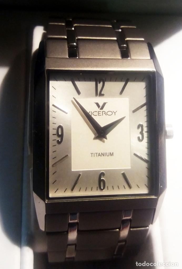 Relojes - Viceroy: RELOJ NUEVO VICEROY TITANiUM titanio SEÑORA SIN USAR EN SU CAJA ORIGINAL LIBRITO GARANTIA. AÑO 1991. - Foto 2 - 175297998