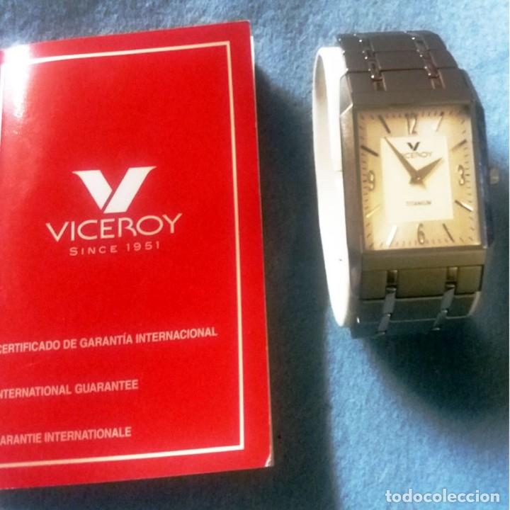 Relojes - Viceroy: RELOJ NUEVO VICEROY TITANiUM titanio SEÑORA SIN USAR EN SU CAJA ORIGINAL LIBRITO GARANTIA. AÑO 1991. - Foto 4 - 175297998