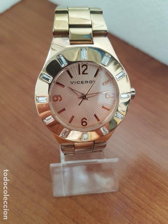 Relojes - Viceroy: Reloj unisex de cuarzo VICEROY chapado de oro con circonitas alrededor de la caja, correa VICEROY - Foto 5 - 178193475
