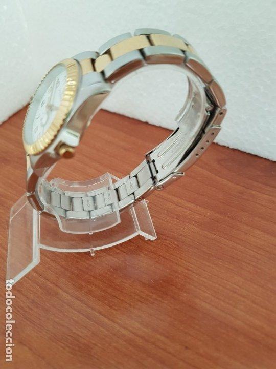 Relojes - Viceroy: Reloj señora de cuarzo VICEROY, acero y chapado de oro, calendario a las tres, correa bicolor - Foto 6 - 178272995