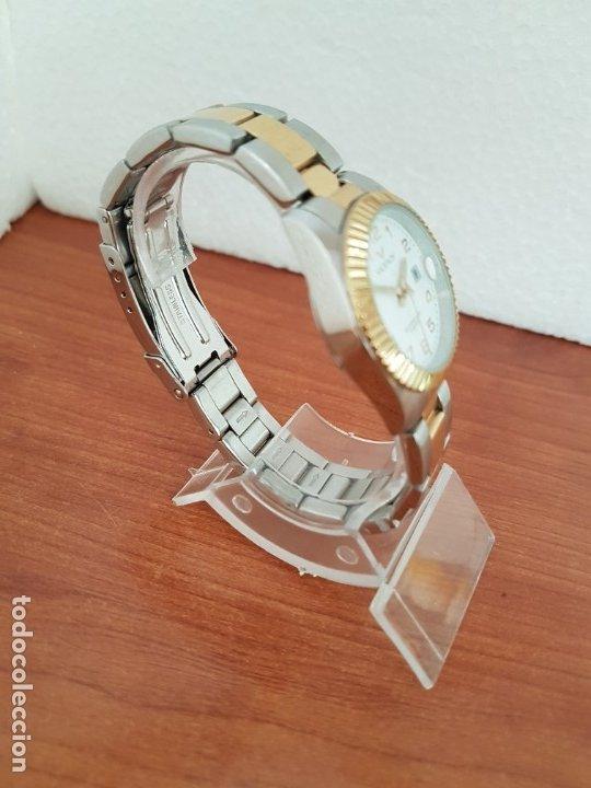 Relojes - Viceroy: Reloj señora de cuarzo VICEROY, acero y chapado de oro, calendario a las tres, correa bicolor - Foto 7 - 178272995