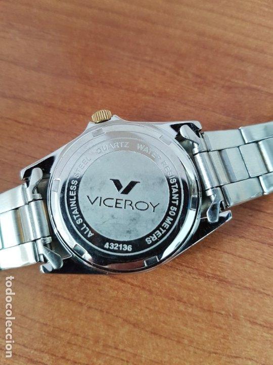 Relojes - Viceroy: Reloj señora de cuarzo VICEROY, acero y chapado de oro, calendario a las tres, correa bicolor - Foto 11 - 178272995