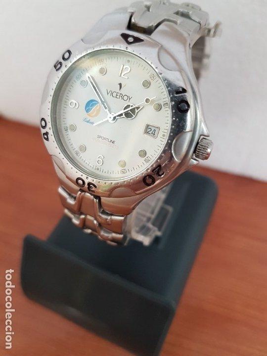 Relojes - Viceroy: Reloj caballero acero VICEROY cuarzo con correa acero original y anagrama, esfera blanca calendario - Foto 2 - 178296983