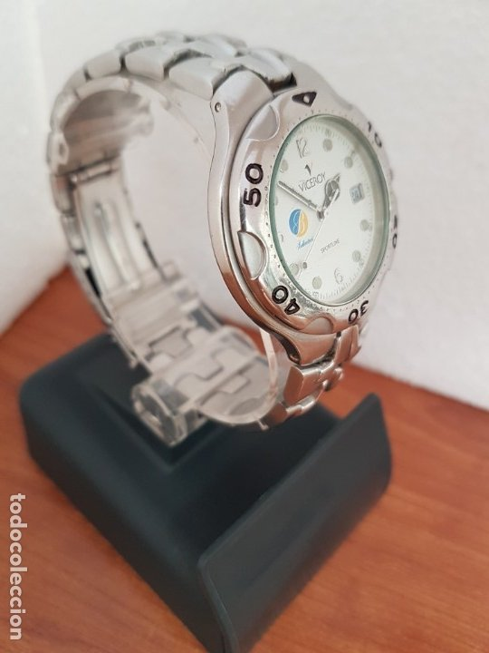 Relojes - Viceroy: Reloj caballero acero VICEROY cuarzo con correa acero original y anagrama, esfera blanca calendario - Foto 3 - 178296983