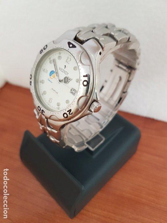 Relojes - Viceroy: Reloj caballero acero VICEROY cuarzo con correa acero original y anagrama, esfera blanca calendario - Foto 4 - 178296983