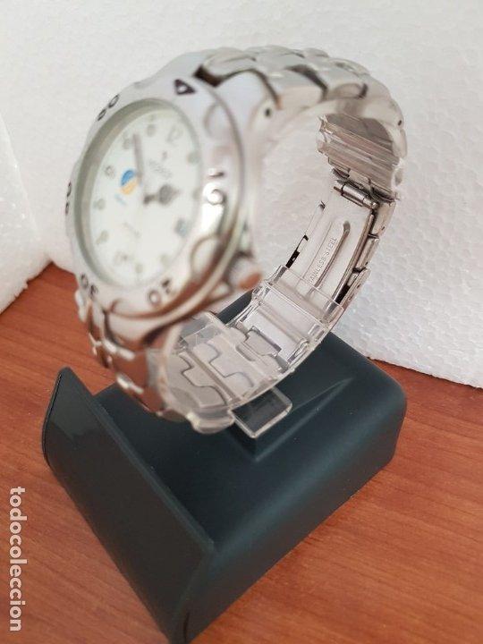 Relojes - Viceroy: Reloj caballero acero VICEROY cuarzo con correa acero original y anagrama, esfera blanca calendario - Foto 6 - 178296983
