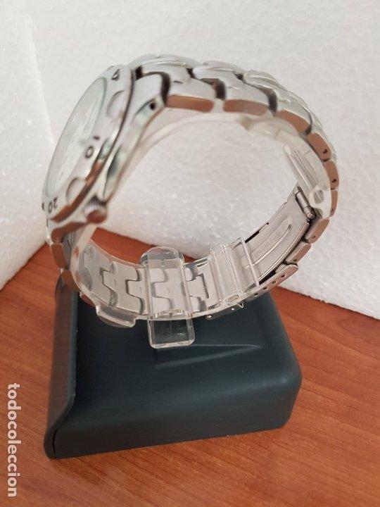 Relojes - Viceroy: Reloj caballero acero VICEROY cuarzo con correa acero original y anagrama, esfera blanca calendario - Foto 7 - 178296983