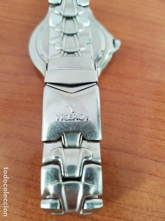 Relojes - Viceroy: Reloj caballero acero VICEROY cuarzo con correa acero original y anagrama, esfera blanca calendario - Foto 14 - 178296983