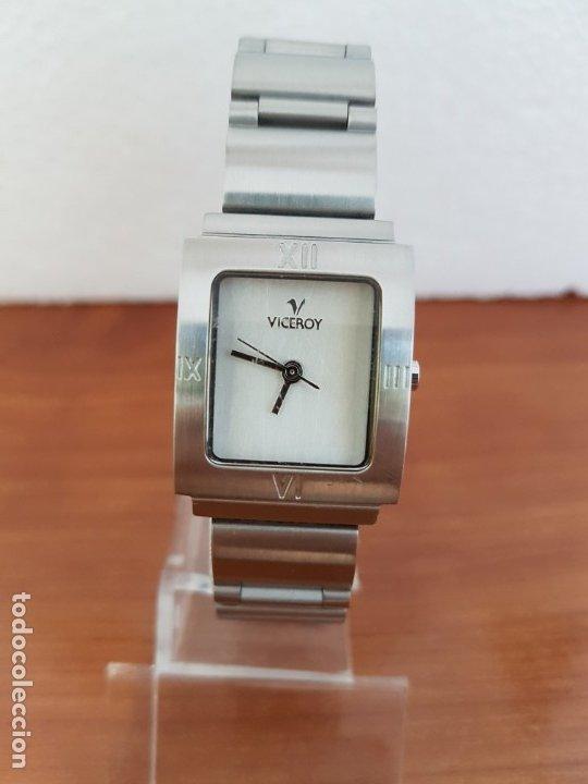 Relojes - Viceroy: Reloj de señora de cuarzo VICEROY en acero, esfera blanca, con correa original VICEROY - Foto 7 - 178445117