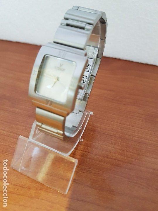 Relojes - Viceroy: Reloj de señora de cuarzo VICEROY en acero, esfera blanca, con correa original VICEROY - Foto 8 - 178445117