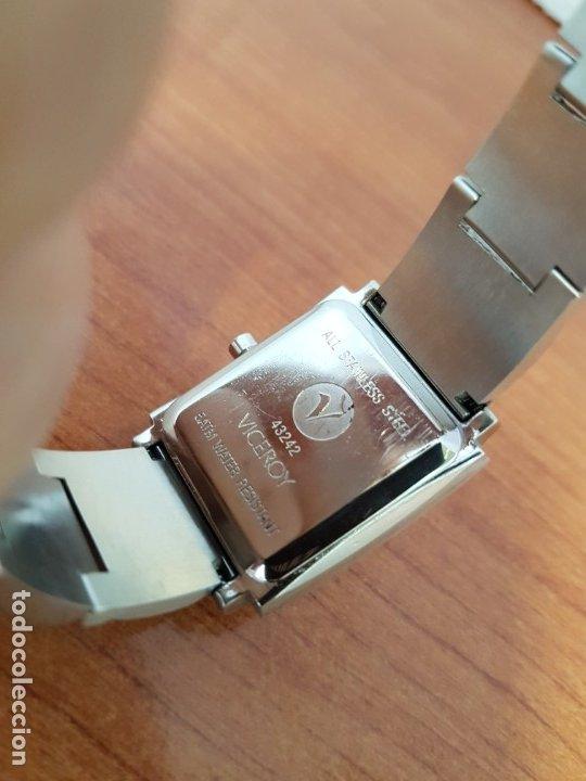 Relojes - Viceroy: Reloj de señora de cuarzo VICEROY en acero, esfera blanca, con correa original VICEROY - Foto 9 - 178445117