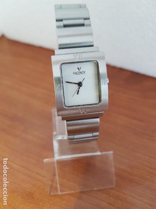 Relojes - Viceroy: Reloj de señora de cuarzo VICEROY en acero, esfera blanca, con correa original VICEROY - Foto 10 - 178445117