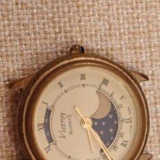 Relojes - Viceroy: INTERESANTE RELOJ VICEROY QUARTZ ESFERA LUNAR FUNCIONANDO. Lote 180892927