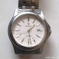 Relojes - Viceroy: RELOJ VICEROY ACERO CALENDARIO, FUNCIONA COMO NUEVO. MED. 37 MM SIN CONTAR CORONA. Lote 188446965