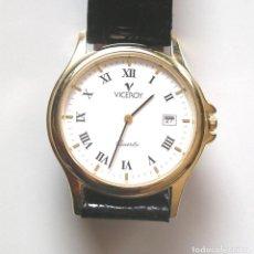 Relojes - Viceroy: RELOJ VICEROY CALENDARIO CUARZO, COMO NUEVO FUNCIONA. MED. 35 MM SIN CONTAR CORONA. Lote 188447000