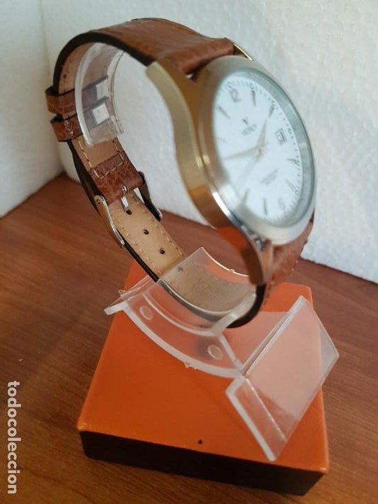 Relojes - Viceroy: Reloj caballero de cuarzo VICEROY en acero con calendario a las tres horas correa de cuero marrón - Foto 7 - 190828107