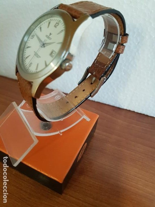 Relojes - Viceroy: Reloj caballero de cuarzo VICEROY en acero con calendario a las tres horas correa de cuero marrón - Foto 14 - 190828107